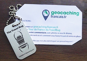 Tour de France TravelBug geocaching-Francais