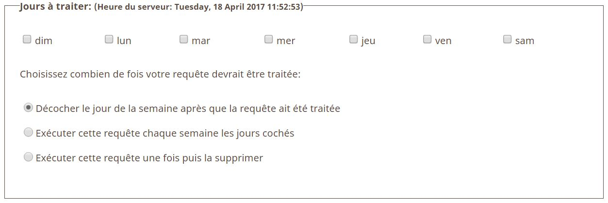Jours à traiter pocket queries geocaching