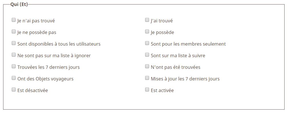 Section qui pocket queries