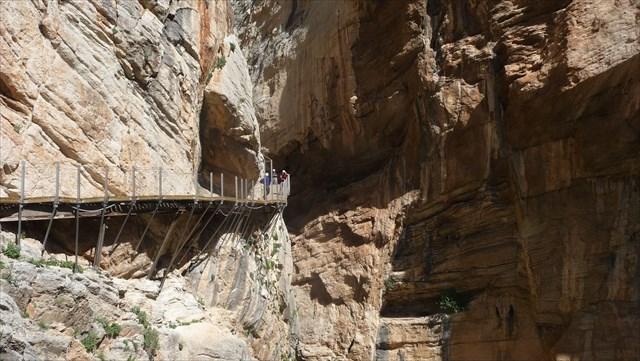 Cache extrême dans un canyon espagnol