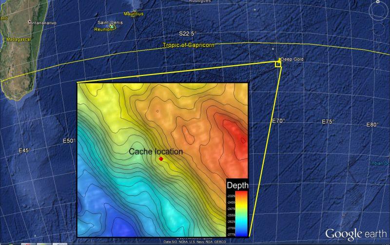 localisation cache ocean geocaching extrême