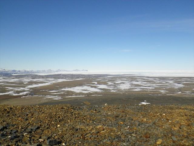 Vue depuis la cache pole nord